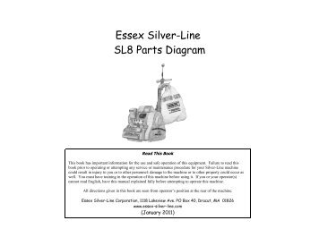 Essex Silver Line Sl8 Parts Diagram