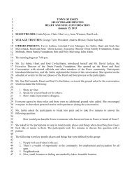 Select Board Minutes for January 15, 2013 - Town of Essex, Vermont