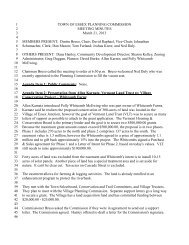 Planning Commission Minutes for March 21, 2013 - Town of Essex ...