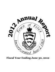 Fiscal Year Ending June 30, 2012 - Town of Essex, Vermont