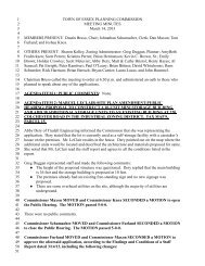 Planning Commission Minutes for March 14, 2013 - Town of Essex ...