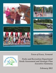 Recreation Needs Assessment - Town of Essex, Vermont