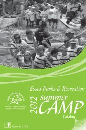 2012_Camp_Brochure_Summer - Town of Essex, Vermont