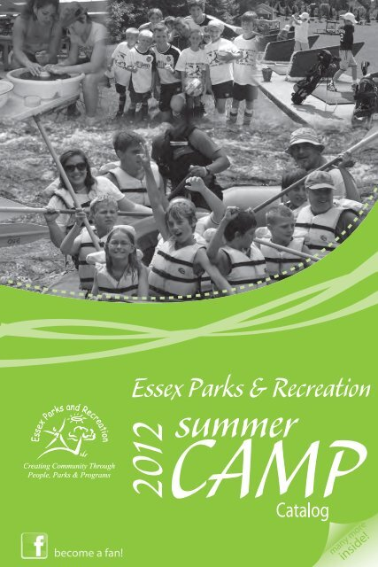 2012_Camp_Brochure_Summer - Town of Essex, Vermont
