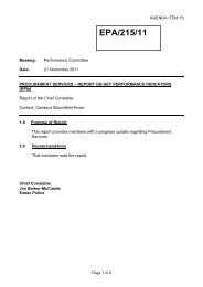 Report on Key Performance Indicators - Essex Police