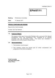 Report on Special Constabulary Review - Essex Police