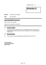 Joint HR Business Plan 2012/13 - Essex Police