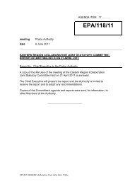 Eastern Region Collaboration - report of meeting held ... - Essex Police