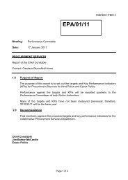Report on procurement key performance Indicators - Essex Police