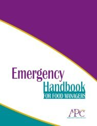 Emergency Handbook for Food Managers