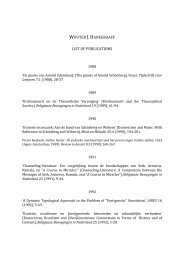 Page 1 WOUTER J. HANEGRAAFF LIST OF PUBLICATIONS 1988 ...