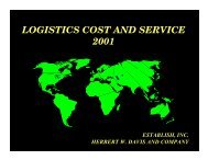 LOGISTICS COST AND SERVICE 2001 - Supply Chain Consulting