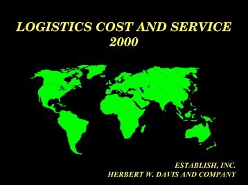 logistics cost and service 2000 - Establish Inc is a supply chain ...