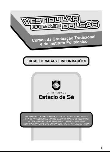 Cursos e Vagas - Universidade Estácio de Sá