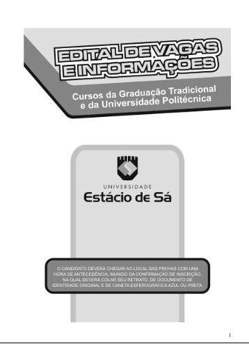 calendários - Universidade Estácio de Sá