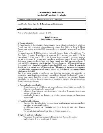 Gastronomia - Universidade Estácio de Sá