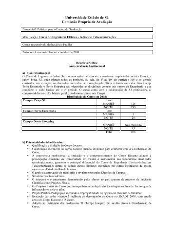 Curso de Engenharia Elétrica – Telecomunicações - Universidade ...