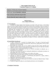 Curso de Engenharia Ambiental - Universidade Estácio de Sá