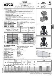 VANNE 2/2 T298 - ASCO Numatics