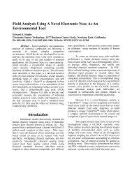 Field Analysis Using A Novel Electronic Nose As An Enviromental Tool