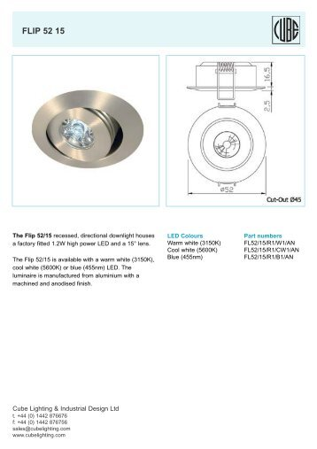 flip 52 15 semi recessed - ES-team lighting  sc 1 st  Yumpu & Yes Show 425 - ES-team lighting azcodes.com