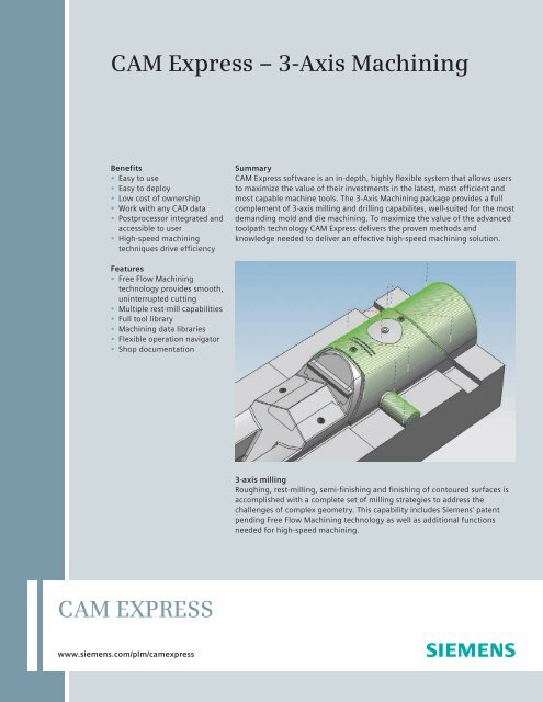 CAM Express 3-Axis Machining