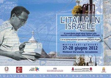 L'ITALIA IN ISRAELE - Ministero degli Affari Esteri