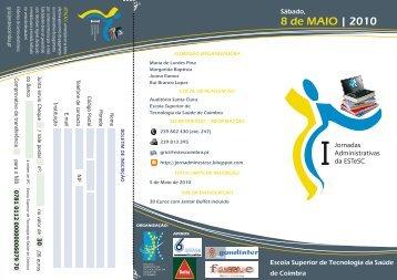 Brochura [I Jornadas Administrativas] - Escola Superior de ...
