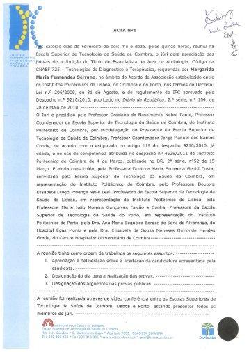 Margarida Serrano - Escola Superior de Tecnologia da Saúde de ...