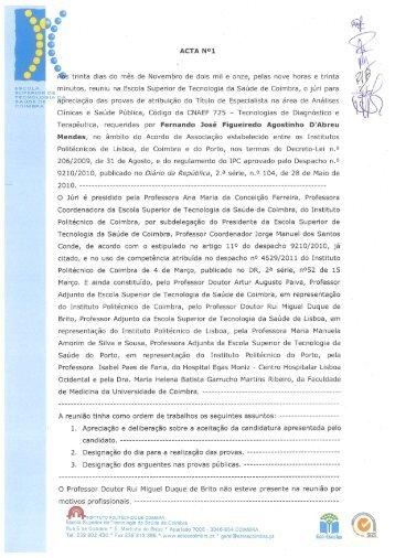 Fernando Mendes - Escola Superior de Tecnologia da Saúde de ...
