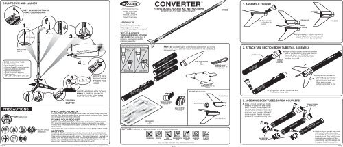 61851 Converter Instructions - Estes Rockets