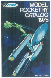 Download 1975 Catalog - Estes Rockets