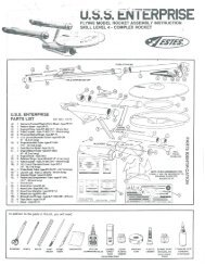 USS Enterprise - Estes Rockets
