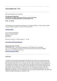 neuraumbrief 012 (PDF) - Esther Hagenmaier