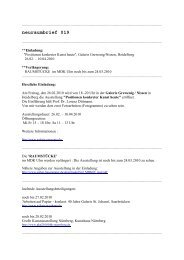 neuraumbrief 019 (PDF) - Esther Hagenmaier