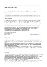 neuraumbrief 014 (PDF) - Esther Hagenmaier