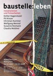 Informationen zu den Künstlern und ausgestellten Arbeiten - Esther ...
