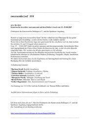 neuraumbrief 006 (PDF) - Esther Hagenmaier