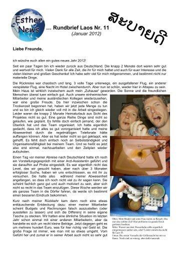 Rundbrief 11, Januar 2012 - Esther News