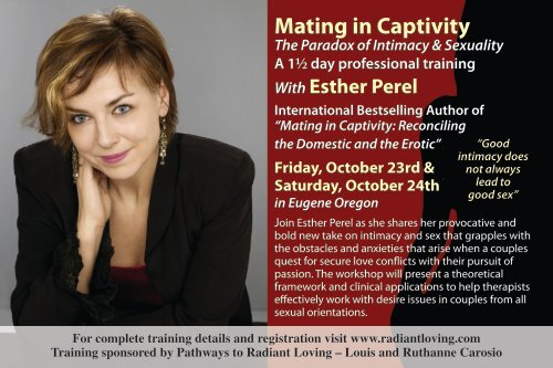 Mating In Captivity Esther Perel