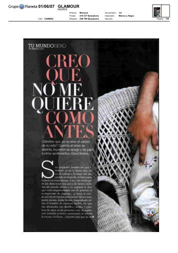 01/06/07 GLAMOUR - Esther Perel