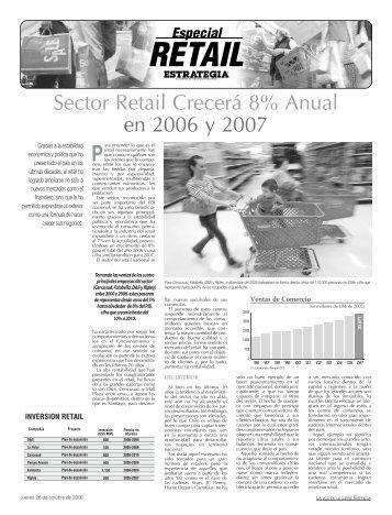 Sector Retail Crecerá 8% Anual en 2006 y 2007 - Estrategia