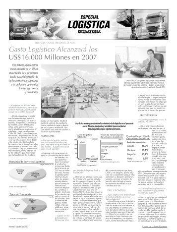 Gasto Logístico Alcanzará los US$16.000 Millones en ... - Estrategia