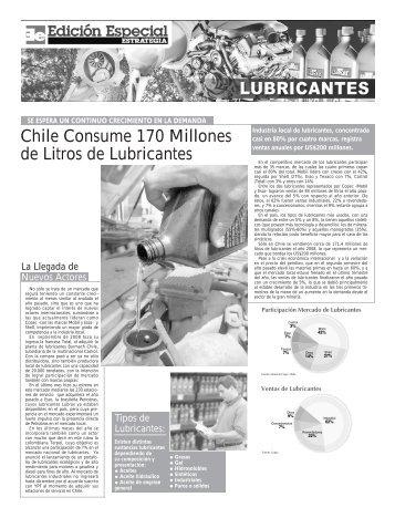 Chile Consume 170 Millones de Litros de Lubricantes - Estrategia