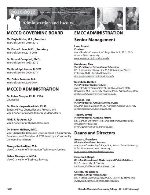 Gcc Az Campus Map.Glossary Index Campus Maps Estrella Mountain Community