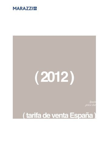 ( tarifa de venta España )