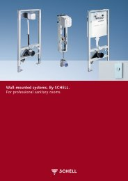 Wall-mounted systems. By SCHELL. For professional sanitary rooms.