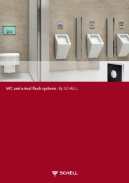 WC and urinal flush systems. By SCHELL. - Schell GmbH & Co. KG