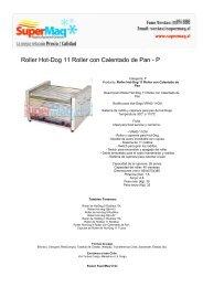 Roller Hot-Dog 11 Roller con Calentado de Pan - P - Estufas de Patio