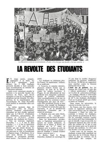 Jacqueline Giraud - l'Express n° 874, 18-24 mars 1968. - esu-psu-unef